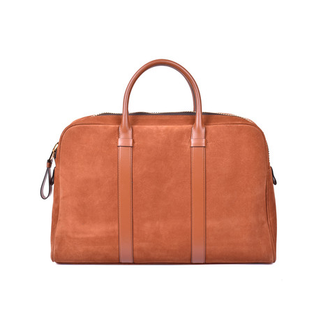 Suede Briefcase V1 // Light Brown