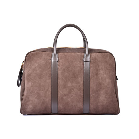 Suede Briefcase V1 // Brown