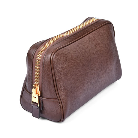 Leather Dopp Kit V1 // Brown