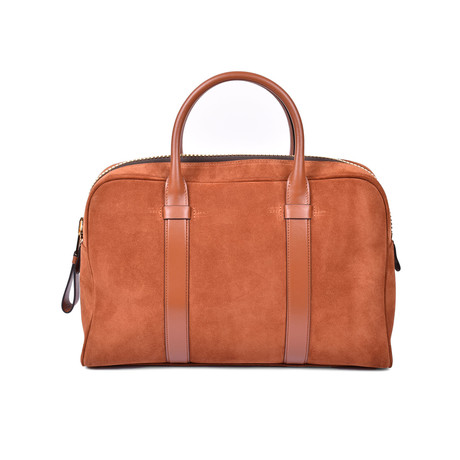 Suede Briefcase V2 // Brown