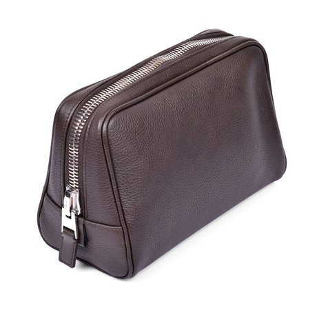 Leather Dopp Kit // Dark Brown