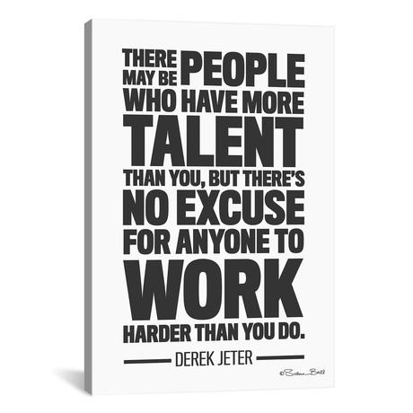 "Derek Jeter Quote // Susan Ball (12""W x 18""H x 0.75""D)"