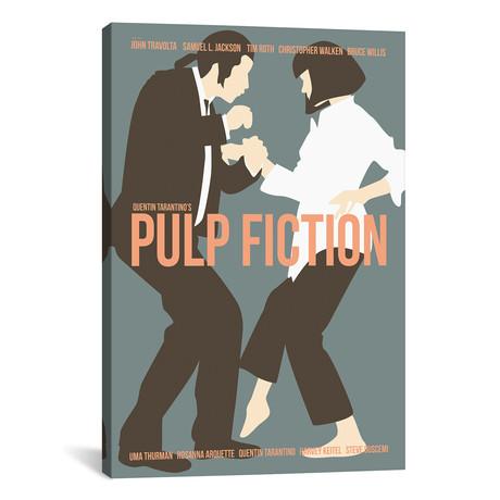 "Pulp Fiction - Blue // Claudia Varosio (12""W x 18""H x 0.75""D)"