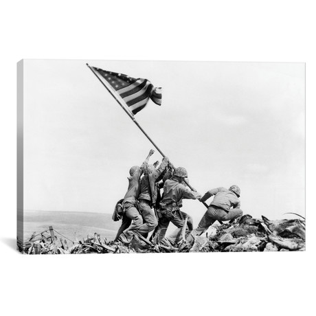 "Raising the Flag on Iwo Jima, February 23, 1945 // Joe Rosenthal (18""W x 12""H x 0.75""D)"