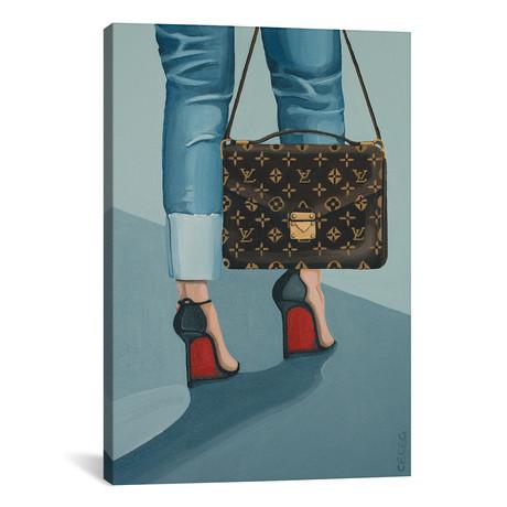 "Louis Vuitton Bag And Louboutin Heels // CeCe Guidi (12""W x 18""H x 0.75""D)"