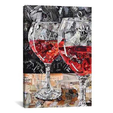 "Red, Red Wine // Deborah Shapiro (12""W x 18""H x 0.75""D)"