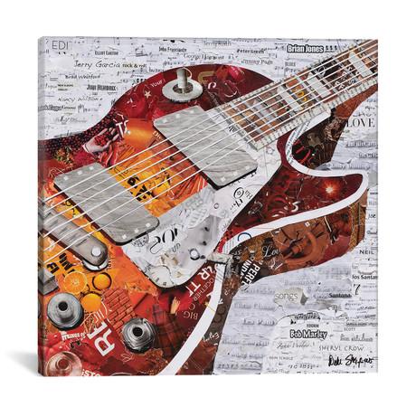 "Guitar I // Deborah Shapiro (12""W x 12""H x 0.75""D)"