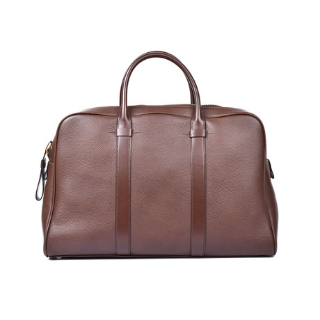 Leather Briefcase // Light Brown