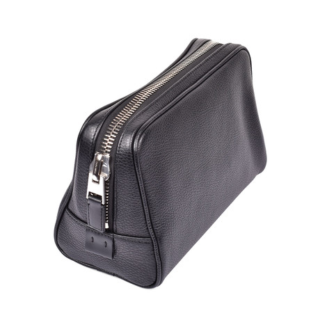 Leather Dopp Kit // Black