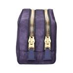 Suede Dopp Kit // Purple