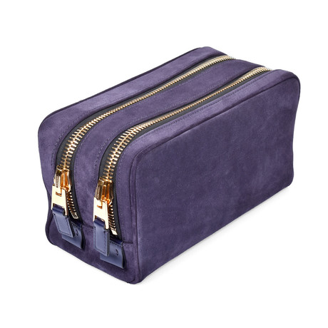 Suede Dopp Kit // Purple