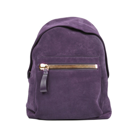 Suede Backpack // Purple