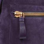 Suede Backpack // Purple