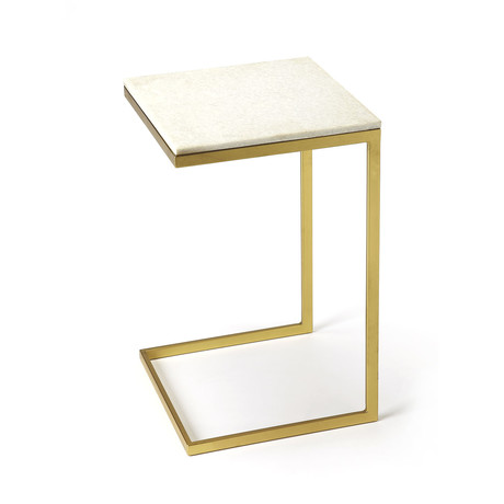 Grant End Table // Antiqued Gold