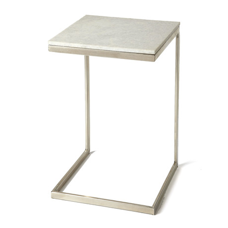 Grant End Table // Brushed Nickel