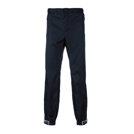 Prada // Rubber Tag Relaxed Fit Pants // Black (S)