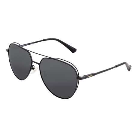 Lyra Polarized Sunglasses (Black Frame + Blue Lens)