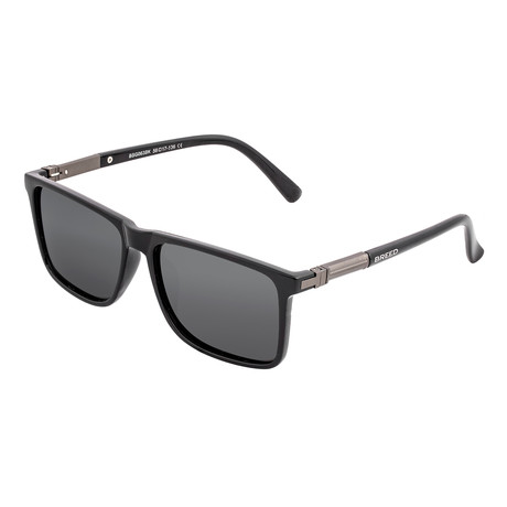 Caelum Polarized Sunglasses (Black Frame + Blue Lens)