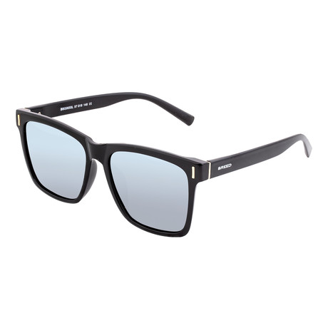 Pictor Polarized Sunglasses // Black Frame + Silver Lens