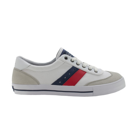 Cole Sneakers // White + Navy + Red (US: 7)