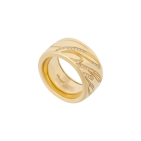Chopard Chopardissimo 18k Yellow Gold Diamond Revolving Ring // Ring Size: 7