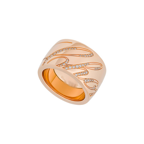 Chopard Chopardissimo 18k Rose Gold Diamond Revolving Ring II // Ring Size: 6.75