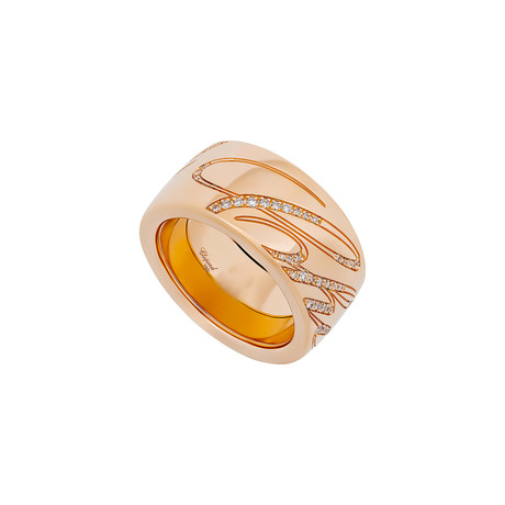 Chopard Chopardissimo 18k Rose Gold Diamond Revolving Ring I // Ring Size: 6.75