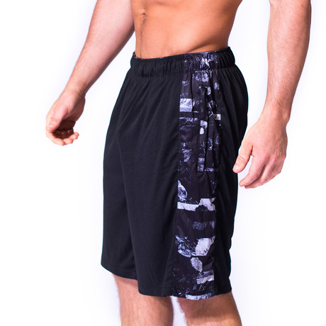 Stretch Knit Shorts // Shattered Floral (XXS)