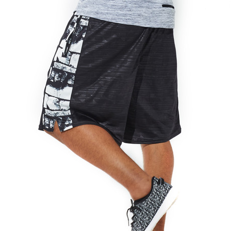 Signature Flip Waistband Shorts // Black (XXS)