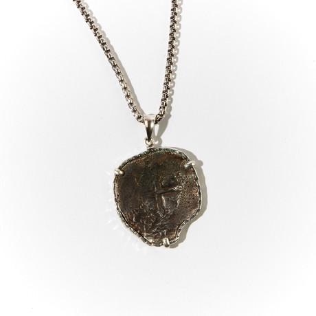 Large Shipwreck Coin Pendant // Circa 1640
