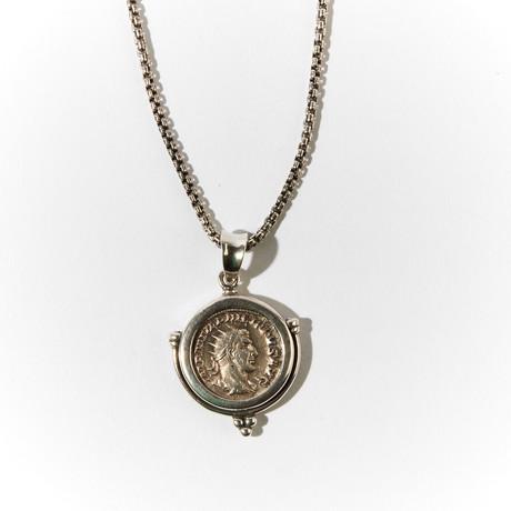 Ancient Rome // Emperor Philip I, 244-249 AD // Silver Coin Pendant