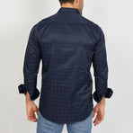 Mateo Long Sleeve Button-Up Shirt // Royal Blue (Large)