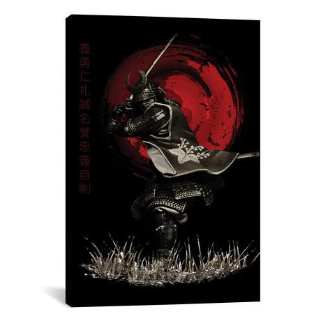 """Bushido Samurai Attacking (12""""W x 18""""H x 0.75""""D)"""