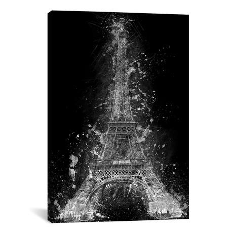 "The Eiffel Tower (12""W x 18""H x 0.75""D)"