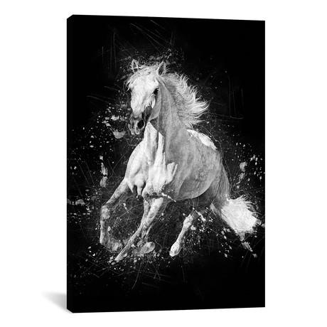 """Horse Running (12""""W x 18""""H x 0.75""""D)"""