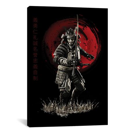 "Bushido Samurai Ready To Attack (12""W x 18""H x 0.75""D)"