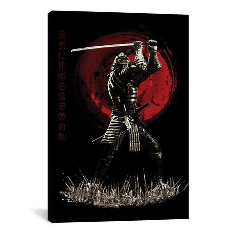 "Bushido Samurai Blocking (12""W x 18""H x 0.75""D)"
