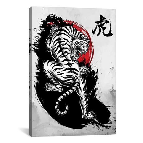 "Japanese Tiger (12""W x 18""H x 0.75""D)"