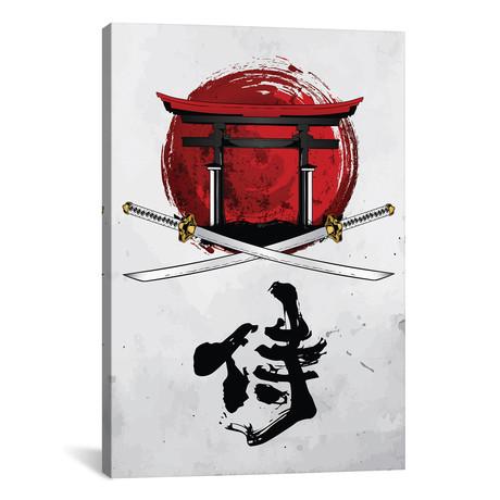 "Samurai Katana With Tori Gate // Cornel Vlad (12""W x 18""H x 0.75""D)"