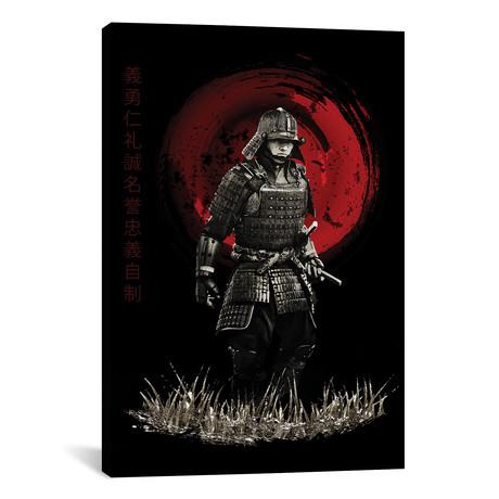 """Bushido Samurai Marching (12""""W x 18""""H x 0.75""""D)"""