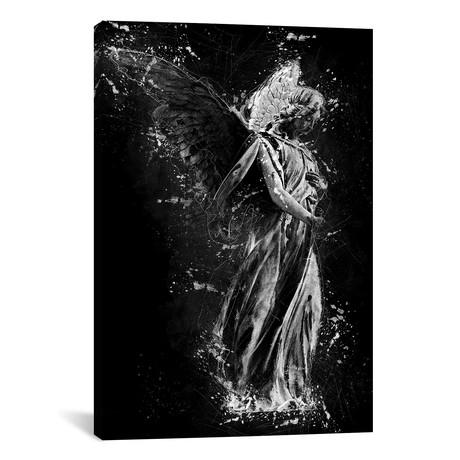 "Angel Girl Statue (12""W x 18""H x 0.75""D)"