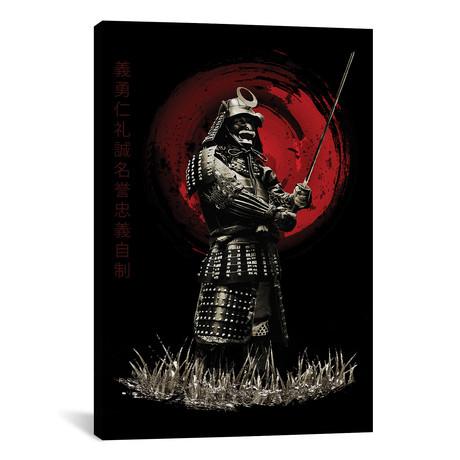 """Bushido Samurai Standing Strong (12""""W x 18""""H x 0.75""""D)"""