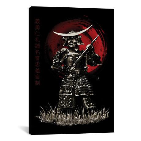 "Bushido Samurai With Rifle (12""W x 18""H x 0.75""D)"