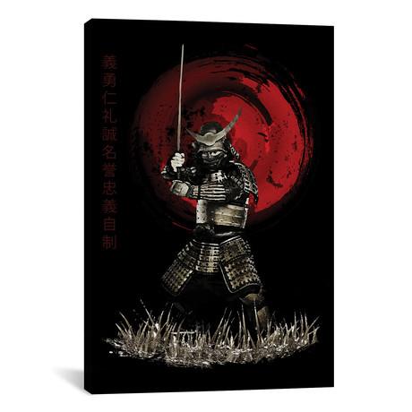 "Bushido Samurai Strong Stance (12""W x 18""H x 0.75""D)"