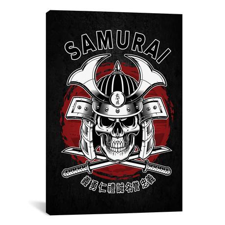 "Samurai Skull (12""W x 18""H x 0.75""D)"