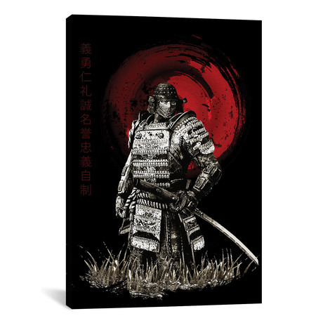 """Bushido Samurai Looking (12""""W x 18""""H x 0.75""""D)"""