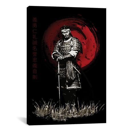 """Bushido Samurai Posing (12""""W x 18""""H x 0.75""""D)"""