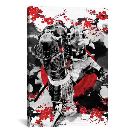 "Sakura Samurai Dueling (12""W x 18""H x 0.75""D)"