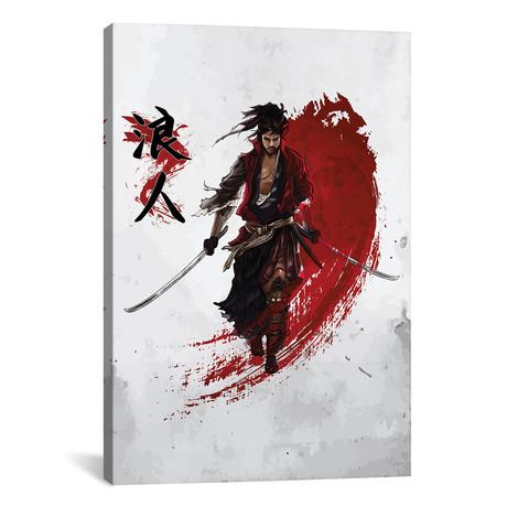 "Ronin Samurai // Cornel Vlad (26""W x 40""H x 1.5""D)"