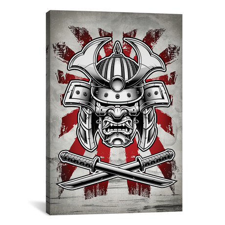 "Samurai Mask (12""W x 18""H x 0.75""D)"
